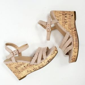 Time and True Cork Wedges Size 6